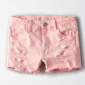 New American Eagle Denim X High Waisted Shorts - 4